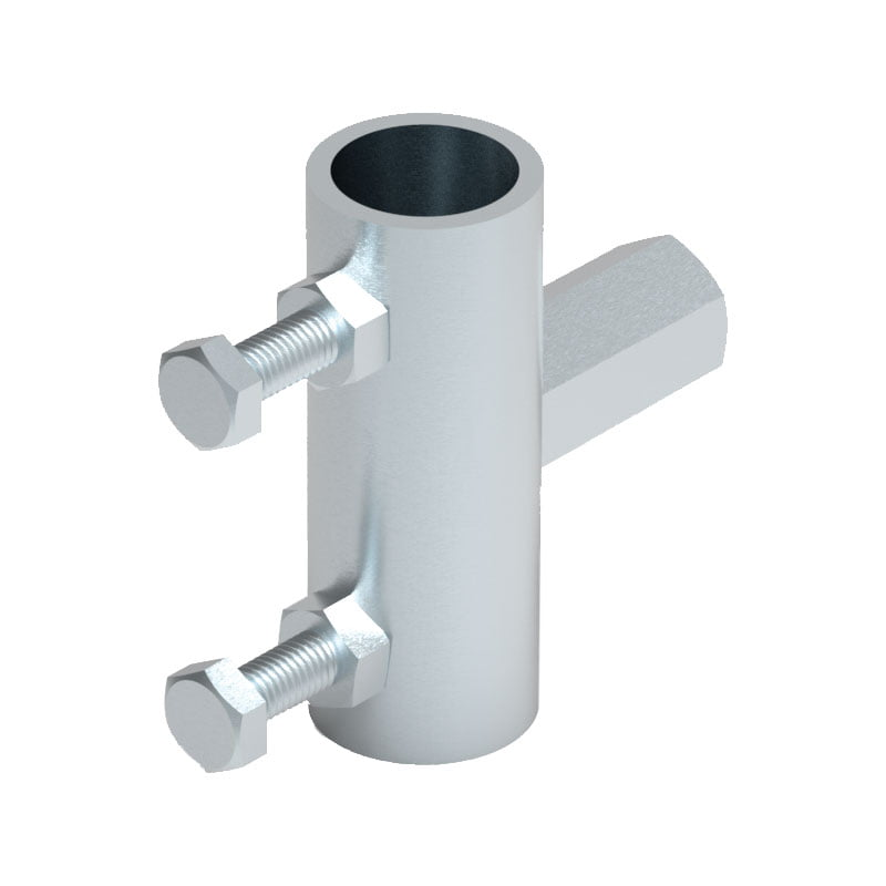 Air Terminal Mast Holder with Threaded Insert