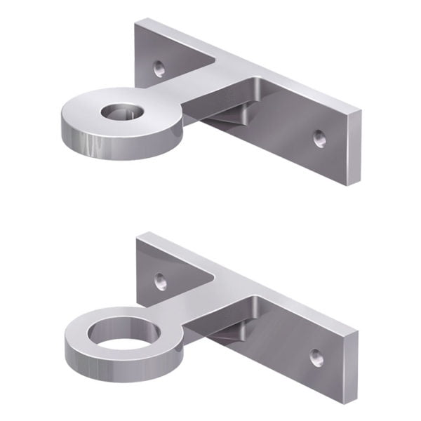 Side Mounted Rod Brackets Aluminium