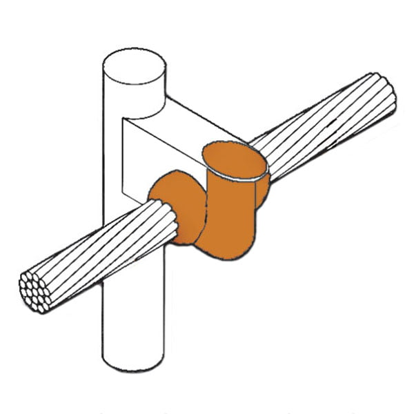 kingsweld cable-to-ground-rod connection cr-3
