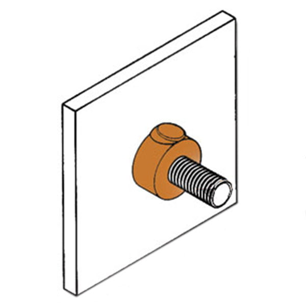 kingsweld stud to vertical steel surface connection rs-1