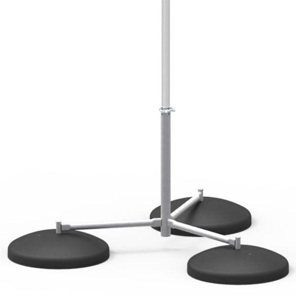 Insulated Lightning Conductor Free-Standing Tripod Interception Mast - 3m to 7m high